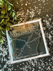 Arkansas State Outline Ornament