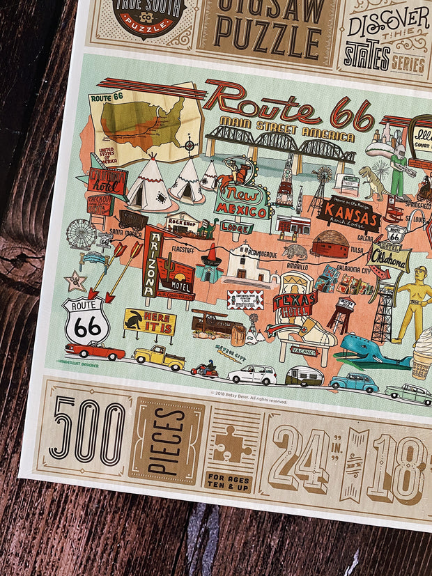 True South Puzzle: Route 66