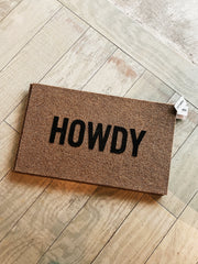 "Howdy Doormat (All Weather 18"" x 30"")"