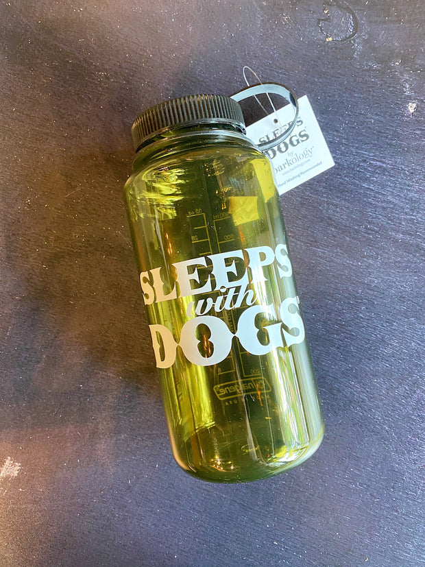 Barkology® Sleeps with Dogs® Nalgene Water Bottle Olive