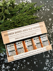 Pappy & Co: Bourbon Barrel-aged Old Fashioned Mix: Single Serve 5-pack