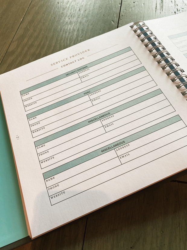 The Beautifully Organized Home Planner