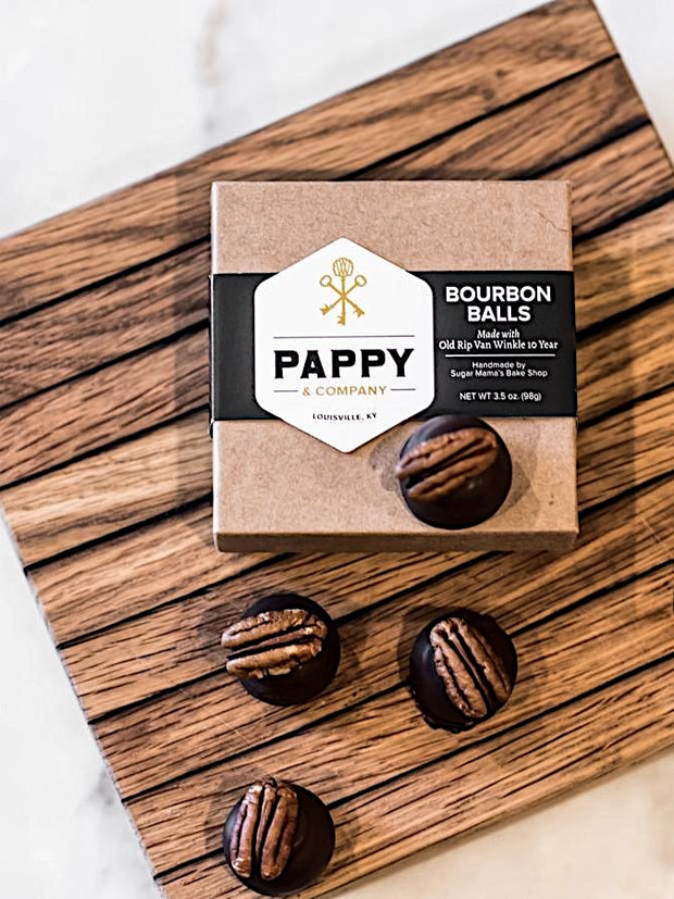 Pappy & Co: Handmade Bourbon Balls - Pack of 4