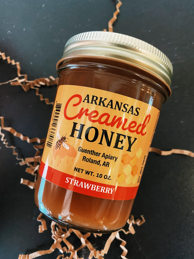 Guenther Apiary: Arkansas Creamed Honey - Strawberry