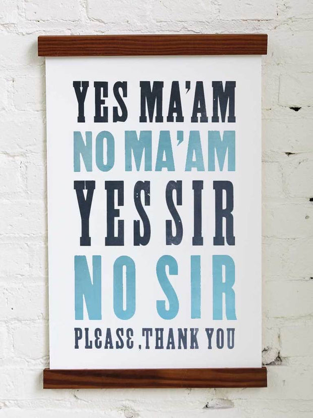 Old Try: General Manners No. 1 Print - 13x20