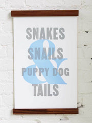 Old Try: What Folks Are Made Of - Puppy Dog Tails (13x20)
