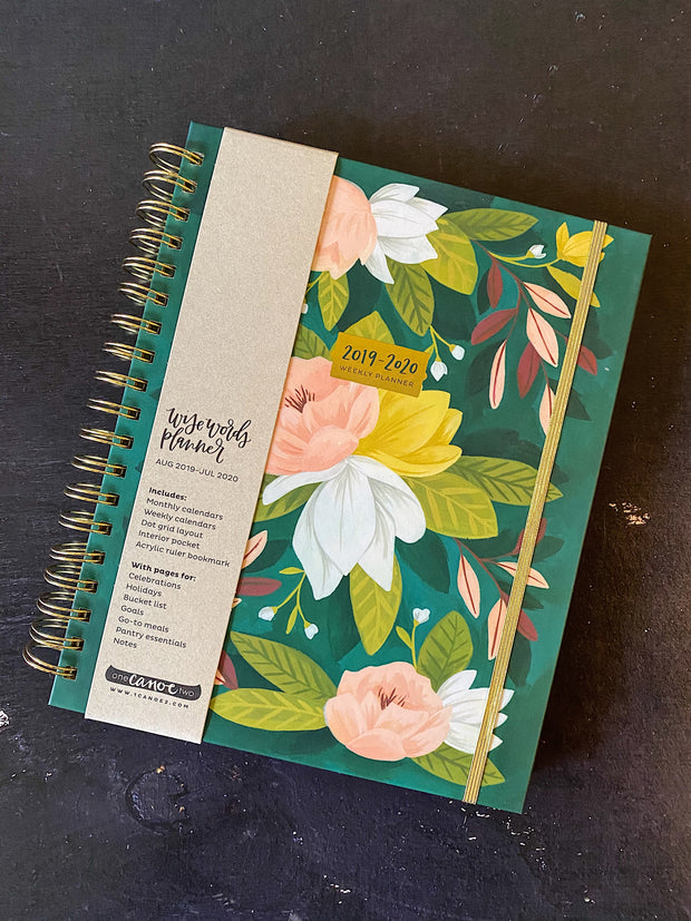 One Canoe Two: 2020 Large Ambrose Floral Weekly Agenda Planner