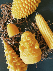 Corn Cobb Beeswax Candle