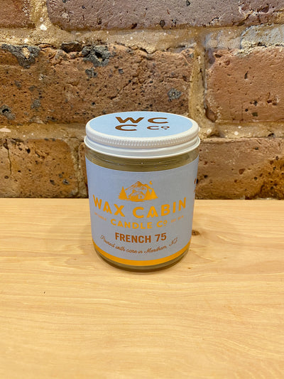 french 75 wax cabin candle