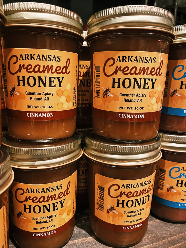 Guenther Apiary: Arkansas Creamed Honey - Cinnamon