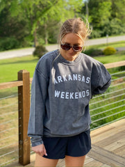 Arkansas Weekends Corded Sweatshirt