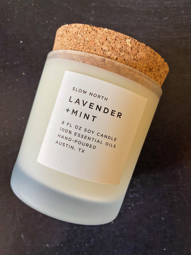 Slow North: Lavender + Mint Frosted Candle