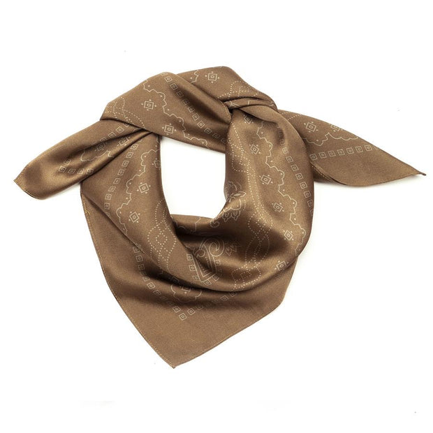 Manner Market: Western Silk Scarf - Mountain