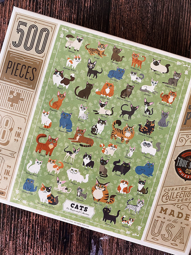 True South Puzzle: Illustrated Cats