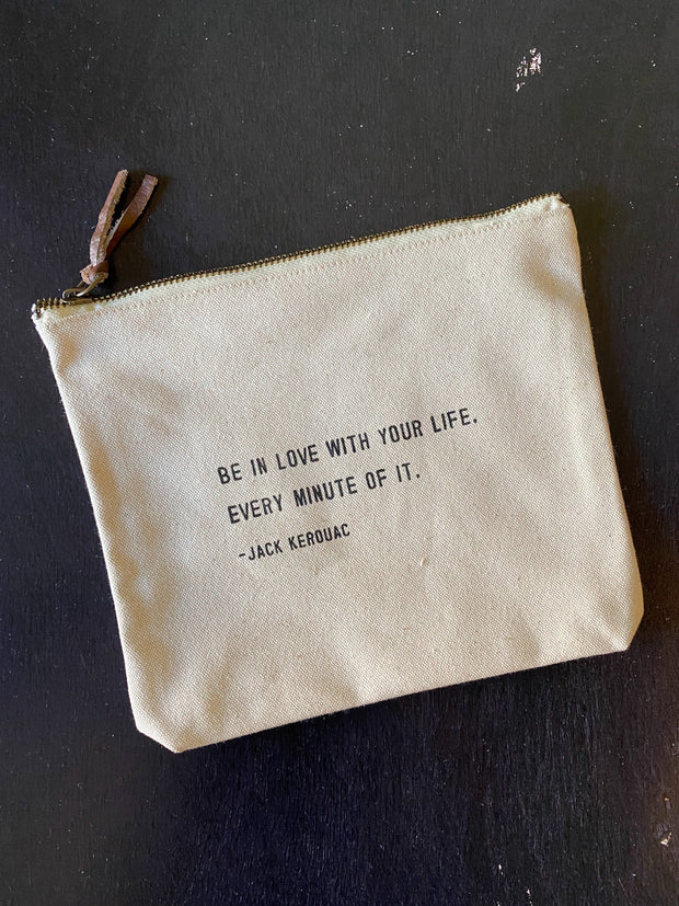 Sugarboo & Co: Canvas Zip Bag - Be In Love
