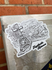 Fayetteville Mt. Sequoyah Views die cut sticker
