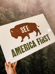 Old Try: See America First Print - 13x20