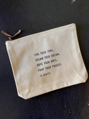 Sugarboo & Co: Canvas Zip Bag - Sing your song