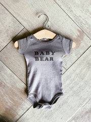 The Bee & The Fox - Baby Bear Onesie (dark grey)