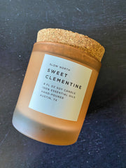 Slow North: Sweet Clementine Frosted Candle