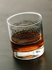 We The People Rocks Glass