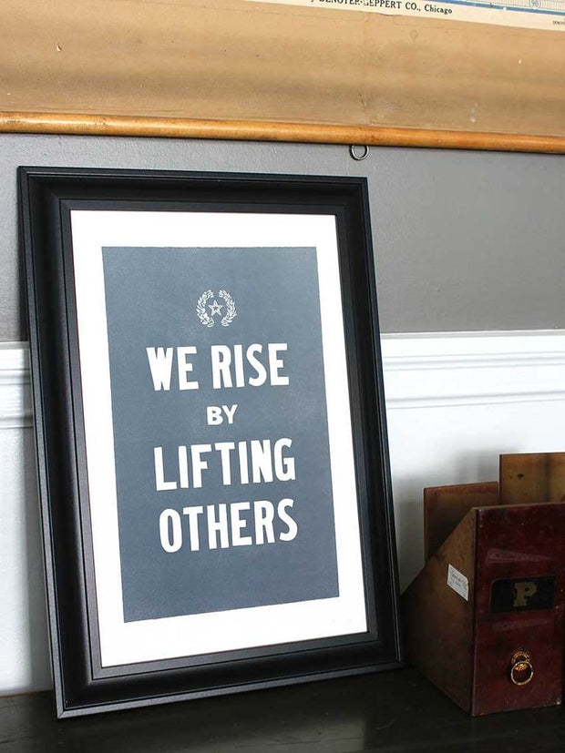 Old Try: We Rise Print - 13x20