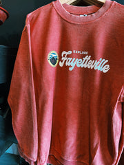 Explore Fayetteville Corded Sweatshirt - Red (City Supply Exclusive)