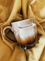 Stoneware Mug w/ Teabag Holder