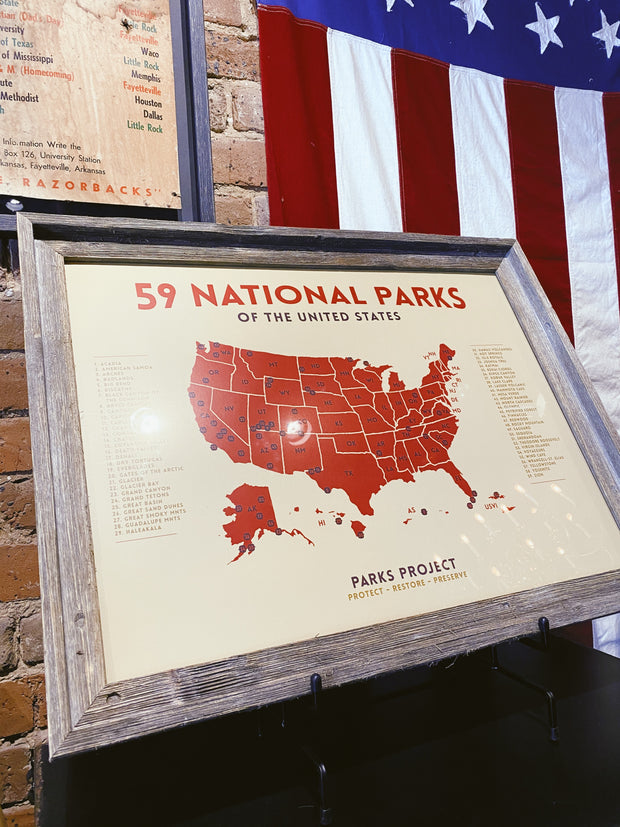 Parks Project: Mid-century National Parks 18x24 Poster