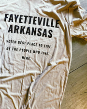 fayetteville arkansas voted best place tee