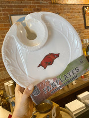Arkansas Razorback Party Plates