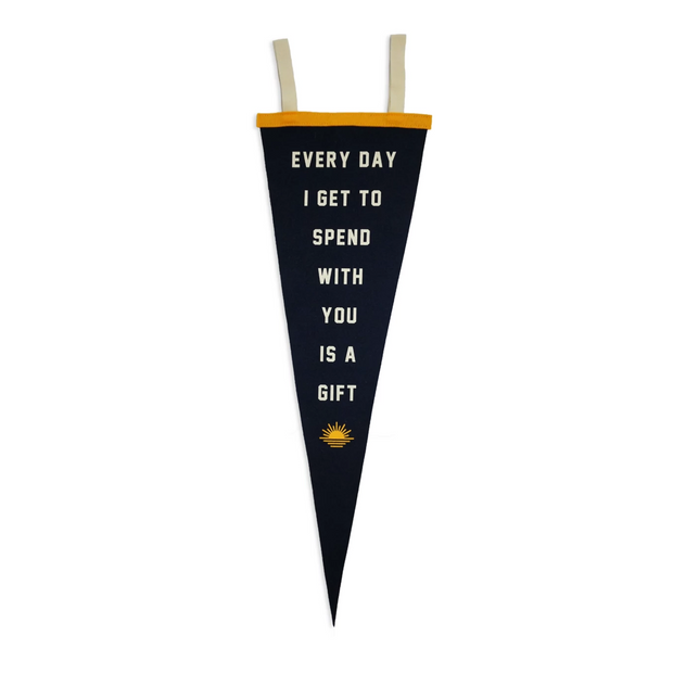 Kelle Hampton X OP everyday I spend with you is a gift camp flag
