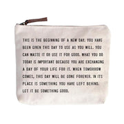 Sugarboo & Co: Canvas Zip Bag - This is the beginning