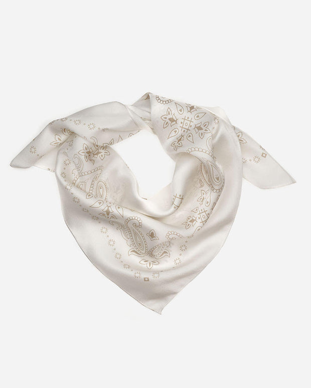 Manner Market: Western Silk Scarf - Ivory