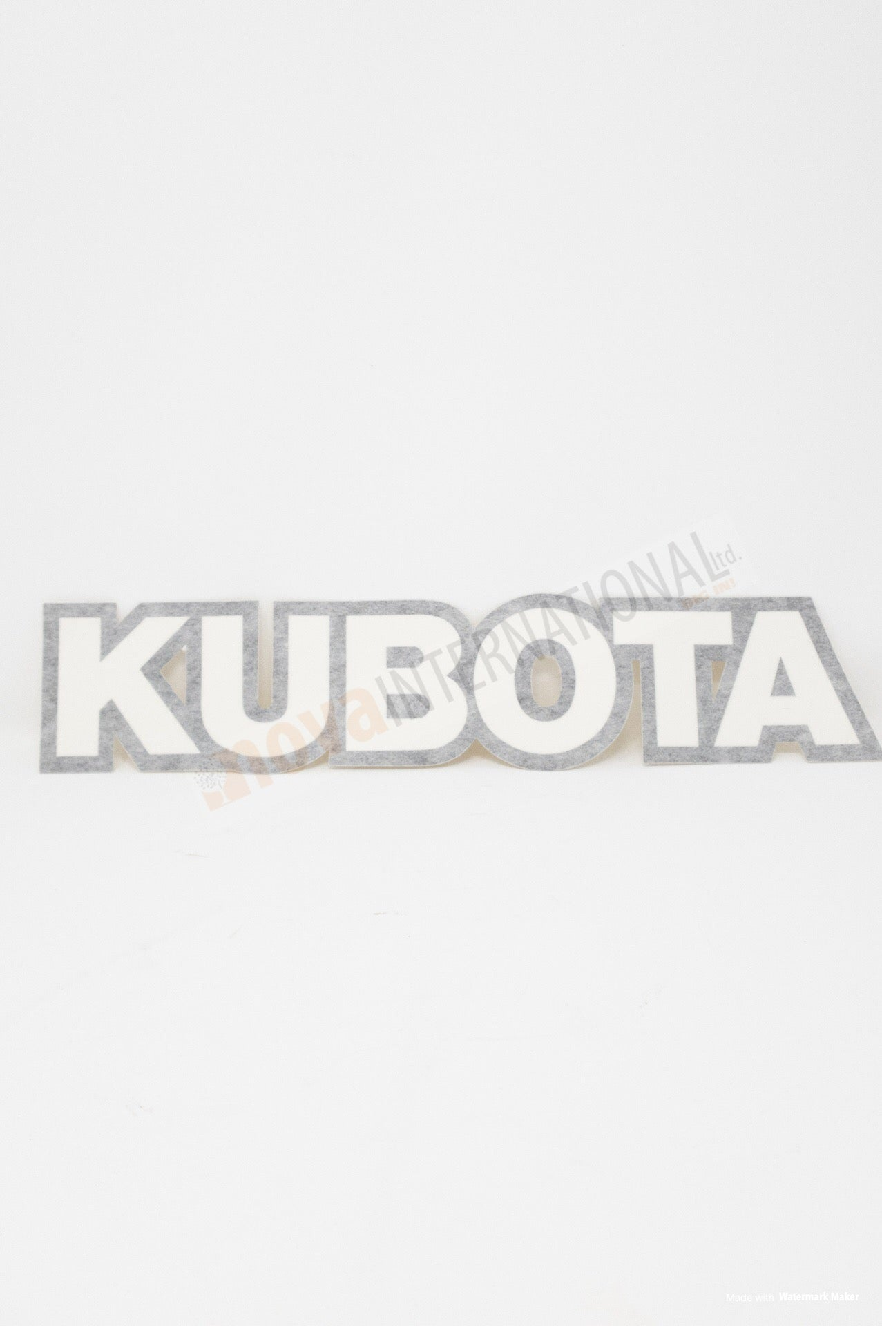 Kubota Decal - Black Trim 7558058450