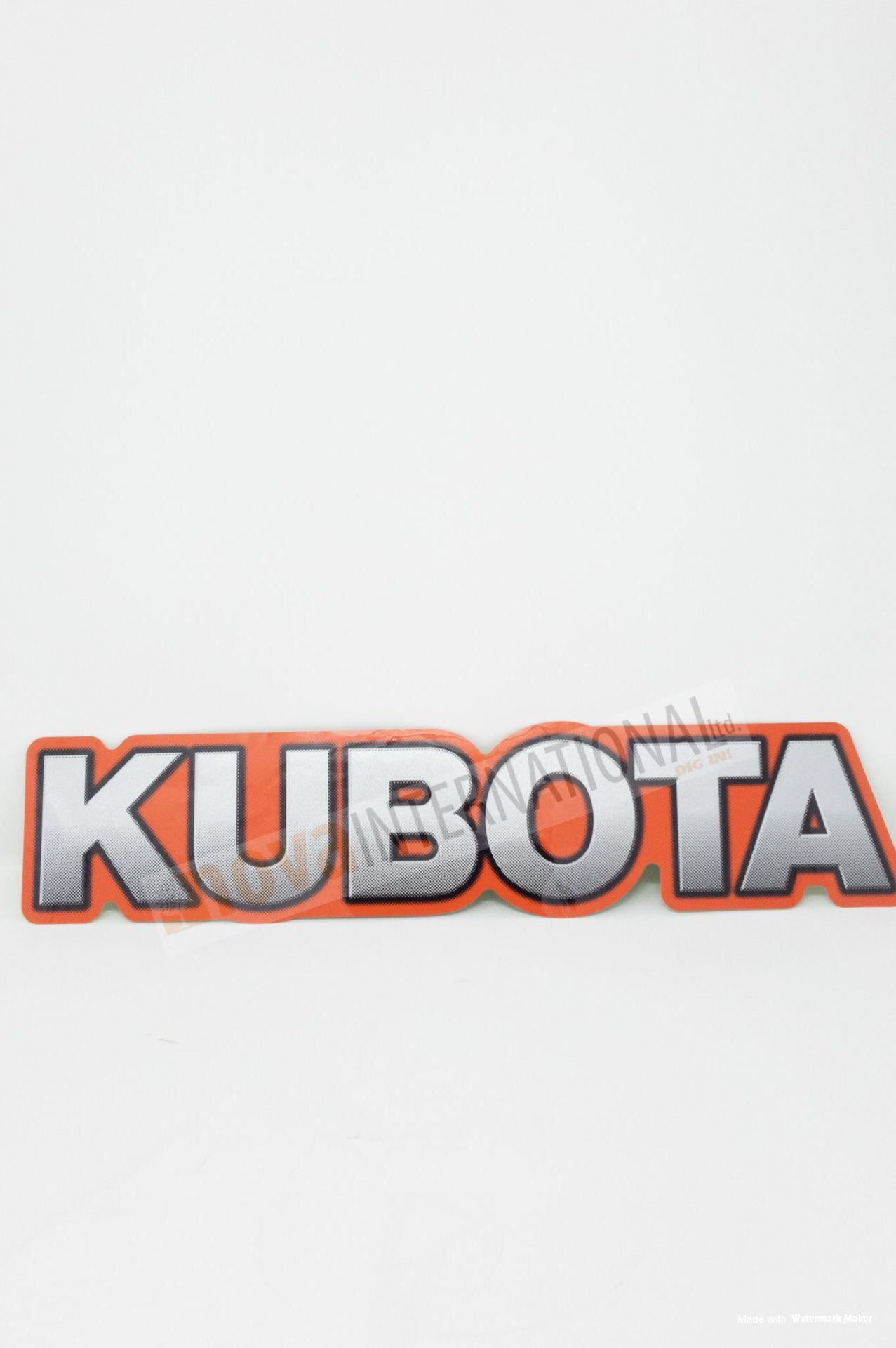 Kubota Decal - Orange Trim 7J29258452