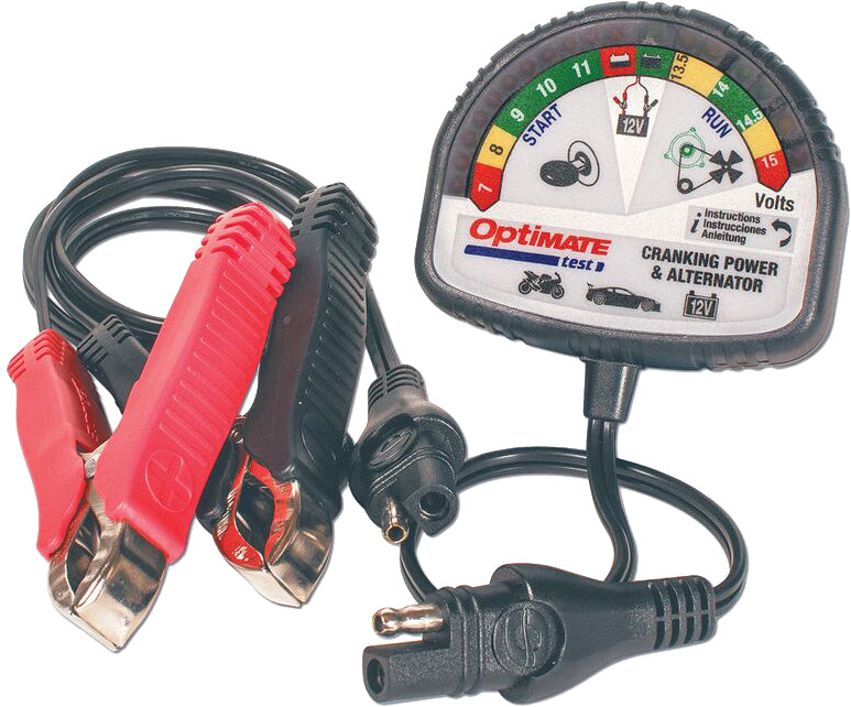 12V Tester for Battery State of Charge, Cranking Performance and Vehicle Charging System