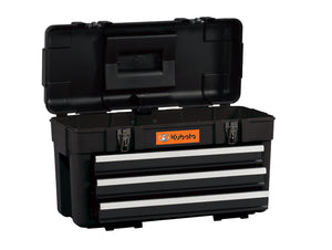 "24"" 3 Drawer High-Impact Plastic Hand Box with Steel Drawers"