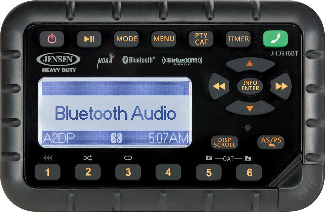 AM/FM/WB/Bluetooth®/SiriusXM Ready® Weatherproof MINI Radio
