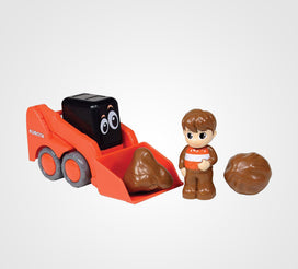 My Lil' Orange Skid Steer with Figure & Bolders