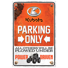 Kubota Parking Sign