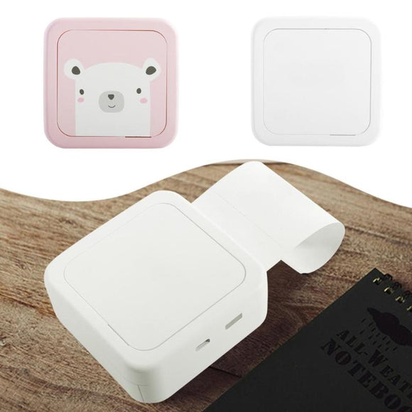 Pocket Sticker receipt Thermal Printer USB Micro Connector Portable Bluetooth 4.2 Printer Phone Photo Printer for iphone xiaomi