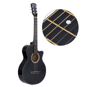 "38"" Acoustic Guitar Folk 6-String Guitar for Beginners Guitar Students Gift"