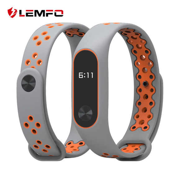 LEMFO Smart Accessories For Xiaomi Mi Band 2 Miband 2 Strap Replacement Wrist Band Double Color Silicone Bracelet For Men Women