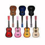 21/23 Inch Solid Wood mini Guitar For Children And Beginners Basswood Acoustic Guitar 12 Frets 6 Strings Guitar with Picks AGT09