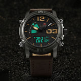 NAVIFORCE Fashion Luxury Brand Men Waterproof Military Sports Watches Men's Quartz Digital Leather Wrist Watch relogio masculino