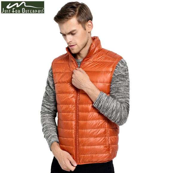 2018 New Arrival Brand Men Sleeveless Jacket Winter Ultralight White Duck Down Vest Male Slim Vest Mens Windproof Warm Waistcoat