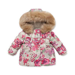 DB3025 davebella  autumn winter infant coat baby padded jacket girls padded outerwear girls coat