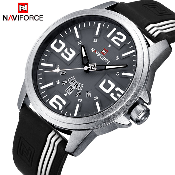 Mens Watches NAVIFORCE Brand Men Waterproof Fashion Casual Sport Watch Man Quartz Clock Leather Wristwatches Relogio Masculino