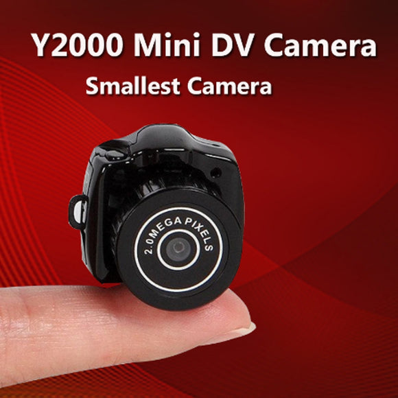 Y2000 Mini Camera Portable HD Video Recorder DV DVR Camcorder Outdoor Pocket Digital Camera Support TF With Keychain Micro Cam